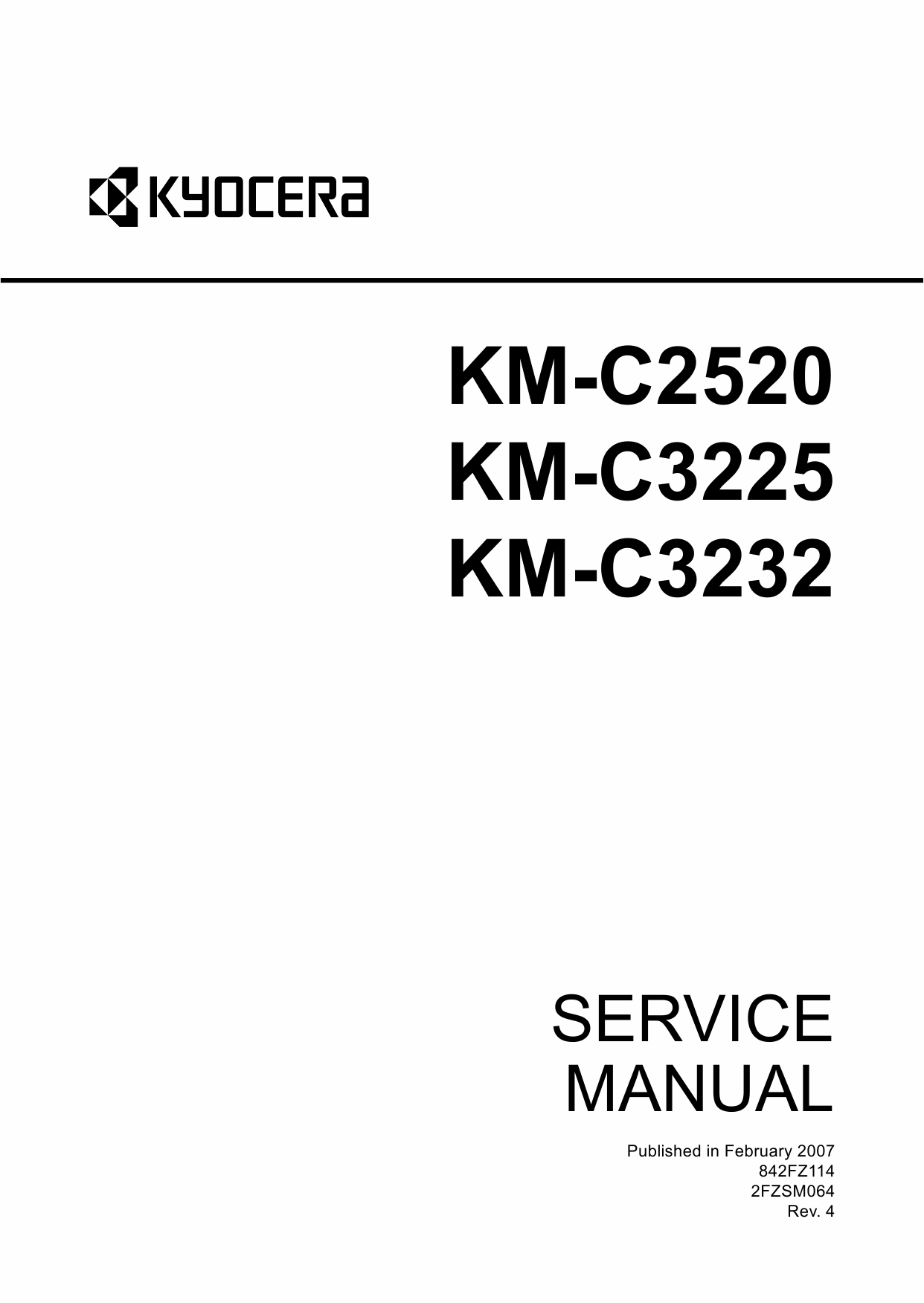 KYOCERA ColorCopier KM-C2520 C3225 C3232 Parts and Service Manual-1